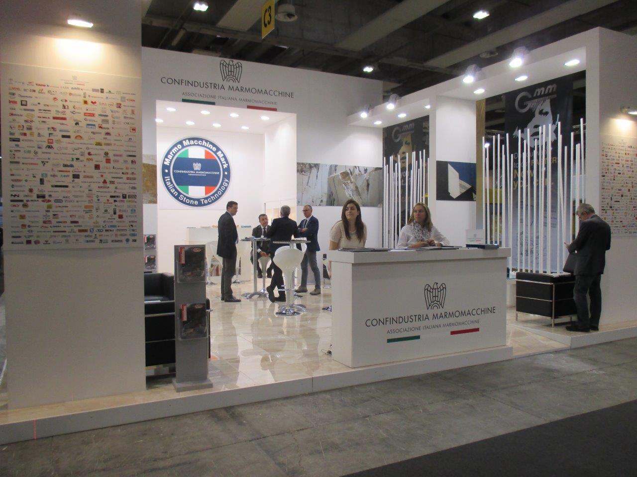 The confindustria marmomacchine stand at marmomacc 2015 for Marmomacc verona 2017